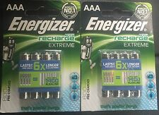 Energizer AAA Extreme 800mah Rechargable Batteries, 2 Packets Of 4.