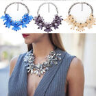New Women Crystal Chunky Statement Bib Pendant Chain Choker Necklace Gift