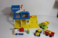 Vintage Tonka Construction Set, some pieces may be Fisher Price Little People