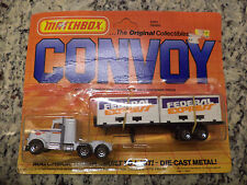 1983 Matchbox FedEx Federal Express Convoy Super Rigs Peterbilt Semi Truck
