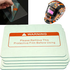 5pcs 4.5'' x 3.5'' Clear Safe Welding Cover Lens Splash Guard for Welding Helmet
