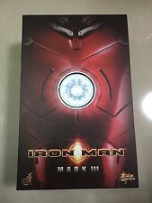 Hot Toys MMS 75 Iron Man Mark 3 III iii Tony Stark 12 inch Action Figure USED