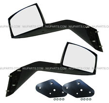 Volvo VNL VNM Hood Mirror Black Driver & Passenger Side with Mounting Kits