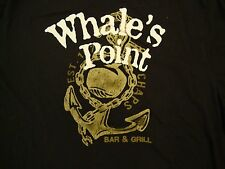 Chaps Whale's Point Bar and Grill Est. 1976 Anchor Logo Black T Shirt L