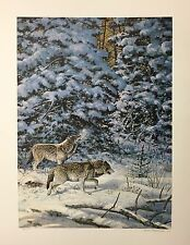 "Scott Zoellick ""Wind Song""  Wolfs SN LE Print 13x18"