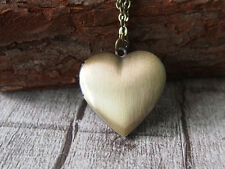 Pure Heart Love Charm Necklace Brass Locket Pendant Necklace Heart Locket