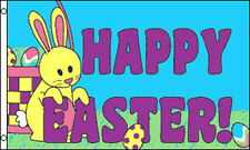 HAPPY EASTER BUNNY FLAG 5' x 3' Celebration Party Flags