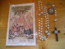 gebrauchter Rosenkranz  Notre Dame de Montaigu aus echten ca. 6 mm Jadeperlen