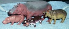 lot 4 plastic animal hippos
