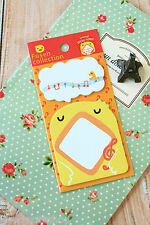Chick fusen collection animaux sticky notes kawaii animal shapes post-it note pad