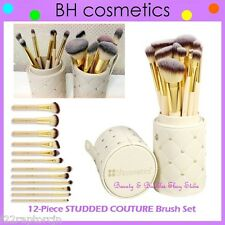 NEW BH Cosmetics 12-Piece STUDDED COUTURE Brush Set w/Cup Holder FREE SHIPPING