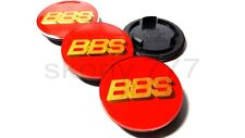 4 x 69mm BBS Racing Red Wheel Centre Acrylic CAPS