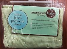 American Baby Company 100% Cotton Jersey Porta-Crib Sheet in Green 24x38,
