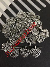 366PJ  20pc Retro Tibetan Silver heart shape Jewelry Accessories wholesale