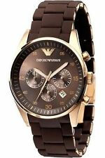 Emporio Armani AR5890 BROWN For Men's Chronograph Watch royal look and touch