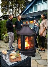 Patio Fire Pit Grill Outdoor Furniture Fireplace Heater Wood Burning Pagoda New