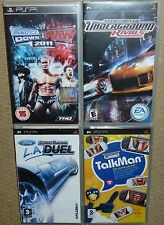 JOB LOT 4 x SONY PSP GAME UMD Need for Speed Rivals Ford Racing WWE 2001 TalkMan