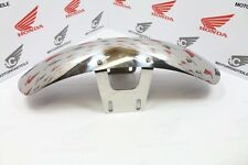 CUSTOM FRONT FENDER in polished steel (CHROME LOOK) for VINTAGE BIKES CAFE RACER