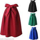 Womens Swing A Line Hepburn High Waist Flared Ball Gown Retro Vintage Midi Skirt