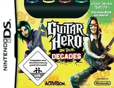 Guitar Hero On Tour Decades mit Guitar Grip Nintendo DS Neu/Ovp