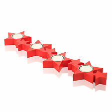 Star Shaped Red Votive Tea Light Candle Lamp Holder Home Decor Advent Wedding