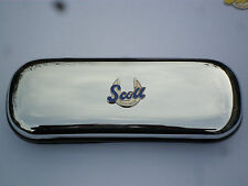 SCOTT Blue  MOTORBIKE  brand new chrome glasses case great gift!!!Christmas