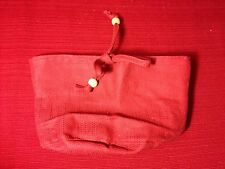 Longaberger SMALL SCALLOPED POCKET Basket Solid PAPRIKA Fabric LINER ~  NEW!