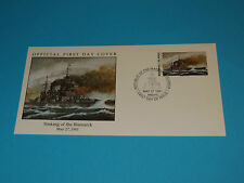 WWII FDC W21-1 Bismarck Britain US Germany France 1941 * HMS Prince of Wales