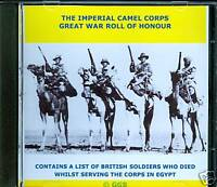 IMPERIAL CAMEL CORPS GREAT WAR ROLL OF HONOUR