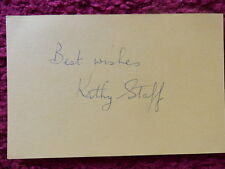 ACTRESS KATHY STAFF AUTOGRAPH