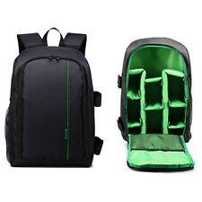 Portable Waterproof DSLR Camera Bag Laptop Backpack Shockproof Shoulder Bag Case