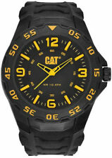 Men's Black And Yellow Caterpillar CAT Motion Watch LB11121137