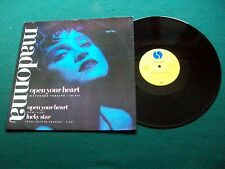 "Madonna - Open Your Heart - UK 12"" Single Sire W8480T 1986 M-/VG+"