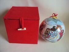 VINTAGE SIMSON CHRISTMAS ORNAMENT SPHERE SKING IN BOX