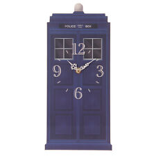 NEW TED SMITH BLUE POLICE BOX DESIGN WALL CLOCK 35cm CKP65