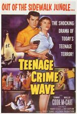 TEENAGE CRIME WAVE Movie POSTER 27x40 Tommy Cook Mollie McCart Sue England Frank