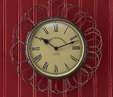 "Park Designs Wire Clock, 7.5""D Egg Basket Vintage Style Wall Clock"