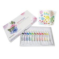 NEW Non-Toxic Dye Textile Fabric Paint Tubes 12 Colors Set 7.5ml - Finest Dyes
