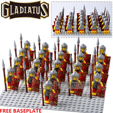 21pcs Series 6 Gladiatus Roman Soldier Fighter Team Minifigures Toys Gifts