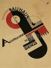 BAUHAUS EXHIBITION POSTER, 1923 Vintage Advertising Giclee Canvas Print 22X29