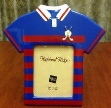 Russ Highland Ridge Golf Shirt Photo Picture Frame Blue Red