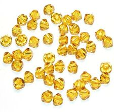 SCB396 SUNFLOWER Yellow Xilion Faceted Bicone 4mm Swarovski Crystal Beads 48/pkg