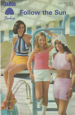 Vtg Crochet Knitting Pattern Tube Tops Halter Top Bolero Mini Jackets Sun Hat