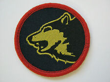 104 Logistic Brigade TRF - Wolf Head on Navy - Military Cloth Patch