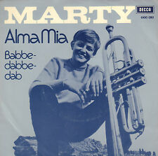 "MARTY ‎– Alma Mia / Babbedabbedab (1971 VINYL SINGLE 7"" DUTCH PS)"