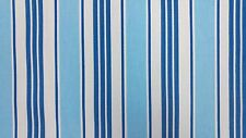 Clarke and Clarke Deckchair Stripe Blue Designer Curtain Upholstery Fabric