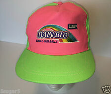 Rare LEAF RAIN-BLO Bubble Gum Balls BASEBALL CAP Pink & Lime Green COLLECTIBLE !
