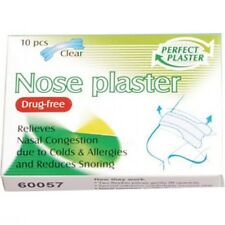 10 x Nose Plasters Clear Discreet Relive Congestion Cold Flu Snoring Allergies