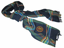 Polo Ralph Lauren Navy Blue Plaid Trail Guide Chief Patch Italy Neck Scarf