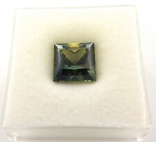 .AUSTRALIAN SQUARE PRINCESS CUT BLUE YELLOW NATURAL SAPPHIRE 3.98CTS. VAL $3065.